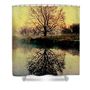 Reflection On Golden Pond Shower Curtain