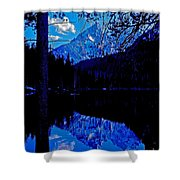 Reflection On String Lake Shower Curtain