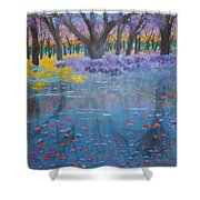 Reflection Pond Japan Shower Curtain