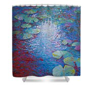 Reflection Pond With Liles Shower Curtain