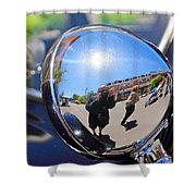 Reflection Selfie Shower Curtain