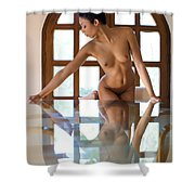 Reflection Time Again Shower Curtain