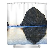 Reflection Upon The Sand Shower Curtain