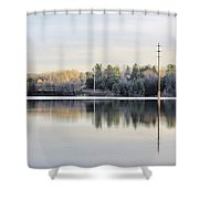 Reflections Across The Water Shower Curtain