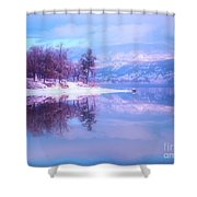 Reflections Along Highway 97 Shower Curtain