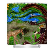 Reflections And Prayer Of St. Francis Shower Curtain