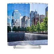 Reflections At 911 Memorial Shower Curtain
