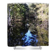 Reflections At Camps Creek  Shower Curtain
