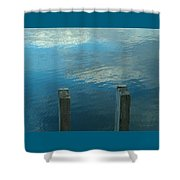 Reflections At Granite Pier Shower Curtain