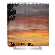 Reflections At The Close Of Day Shower Curtain