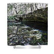 Reflections At The Grotto Shower Curtain