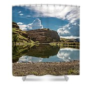 Reflections At The Pond Shower Curtain