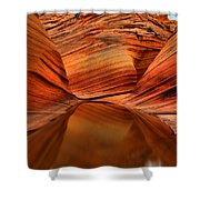Reflections At The Wave Shower Curtain
