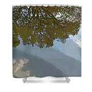 Reflections In A Lake - Poster Edges Shower Curtain