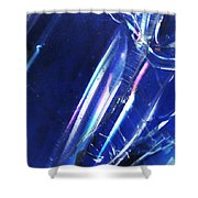 Reflections In Blue Shower Curtain