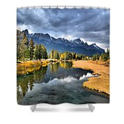 Reflections In Canmore Shower Curtain