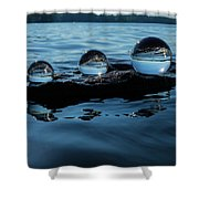 Reflections In Crystal Shower Curtain