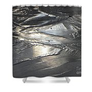 Reflections In Dark Ice 3 Shower Curtain