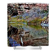 Reflections In Desert River Canyon Shower Curtain