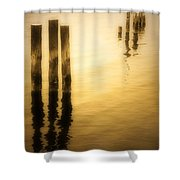 Reflections In Gold Shower Curtain