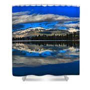 Reflections In Lac Beauvert Shower Curtain