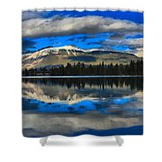 Reflections In Lake Beauvert Shower Curtain