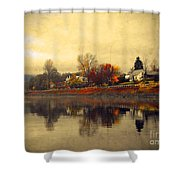 Reflections In Nakusp Shower Curtain