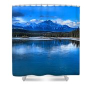 Reflections In The Athabasca Shower Curtain