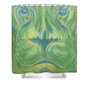 Reflections In The Lions Eyes Shower Curtain
