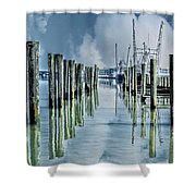 Reflections In The Marina Shower Curtain