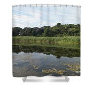 Reflections In The Marsh Shower Curtain
