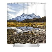 Reflections In The Pond Shower Curtain