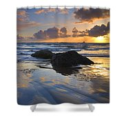 Reflections In The Sand Shower Curtain