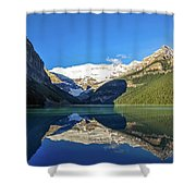 Reflections In The Water At Lake Louise, Canada Shower Curtain
