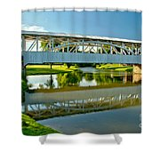 Reflections In Yellow Creek Shower Curtain
