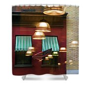 Reflections Light Buildings  Shower Curtain