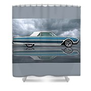 Reflections Of A 1961 Thunderbird Shower Curtain