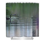 Reflections Of A Canada Goose Shower Curtain