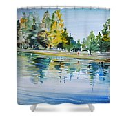 Reflections Of A Stroll Shower Curtain