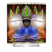 Reflections Of An Alien Jewel Shower Curtain