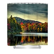 Reflections Of Autumn On West Lake Shower Curtain