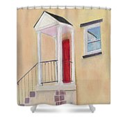 Red Door - Baltimore Shower Curtain
