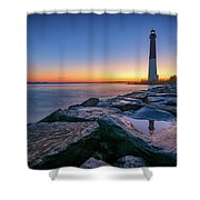 Reflections Of Barnegat Light Shower Curtain
