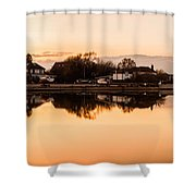 Reflections Of Emsworth Shower Curtain by Trevor Wintle