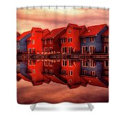 Reflections Of Groningen Shower Curtain