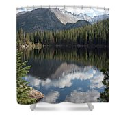 Reflections Of Majestic Mountains Shower Curtain