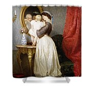 Reflections Of Maternal Love Shower Curtain