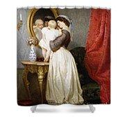 Reflections Of Maternal Love Shower Curtain by Robert Julius Beyschlag