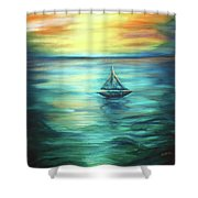 Reflections Of Peace Shower Curtain