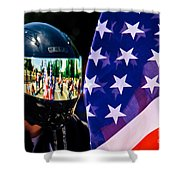 Reflections Of Rolling Thunder Shower Curtain